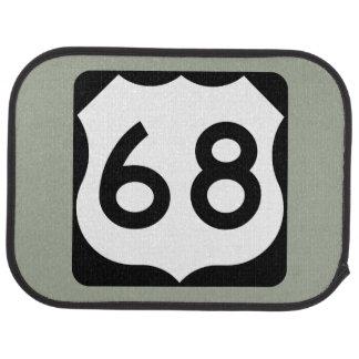 US Route 68 Sign Car Mat