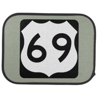 US Route 69 Sign Car Mat