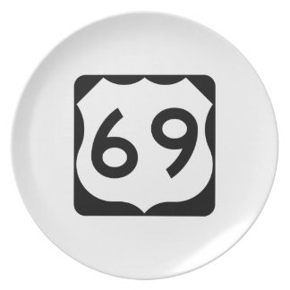US Route 69 Sign Plate