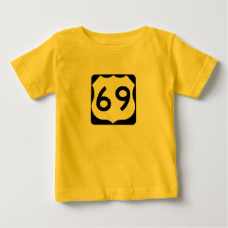 US Route 69 Sign T-shirts