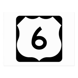 US Route 6 Sign Postcard