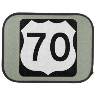 US Route 70 Sign Car Mat