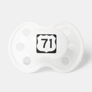 US Route 71 Sign Pacifier