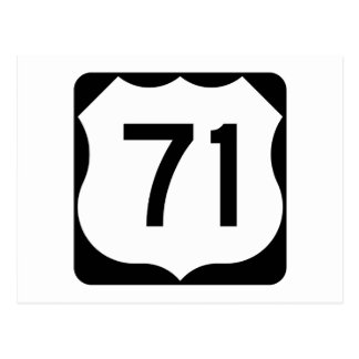 US Route 71 Sign Postcard