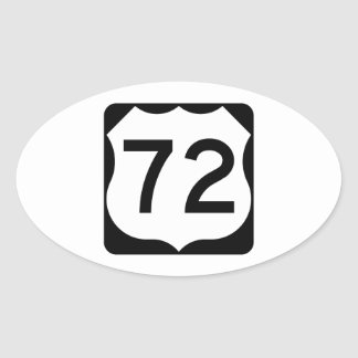 US Route 72 Sign Oval Sticker