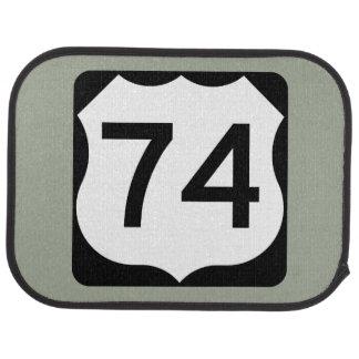 US Route 74 Sign Car Mat