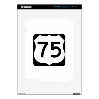 US Route 75 Sign Skin For iPad 3
