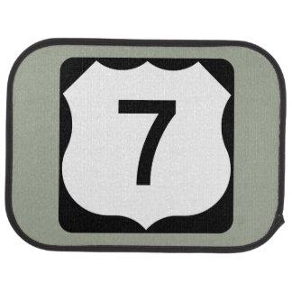 US Route 7 Sign Car Floor Mat