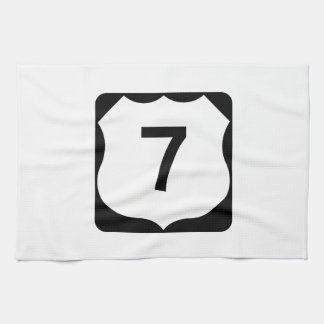 US Route 7 Sign Hand Towel