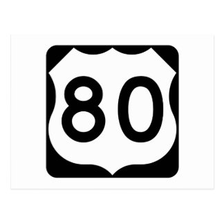 US Route 80 Sign Postcard