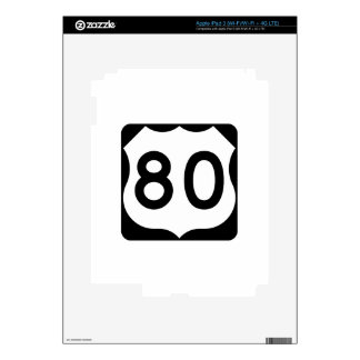 US Route 80 Sign Skins For iPad 3