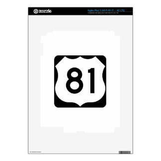 US Route 81 Sign Skins For iPad 3
