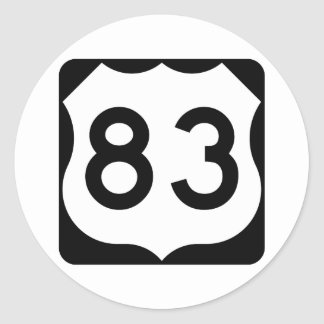 US Route 83 Sign Classic Round Sticker