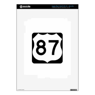 US Route 87 Sign Decals For iPad 3