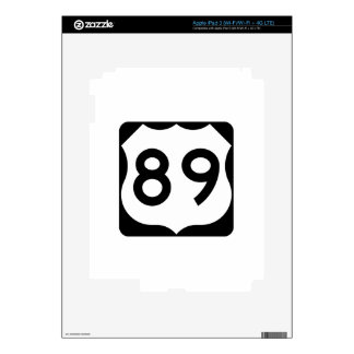 US Route 89 Sign Skins For iPad 3