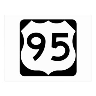 US Route 95 Sign Postcard
