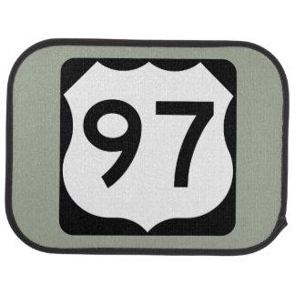 US Route 97 Sign Car Mat