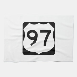 US Route 97 Sign Hand Towel