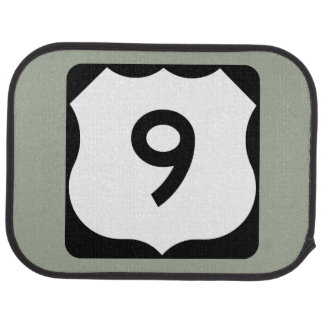 US Route 9 Sign Car Floor Mat