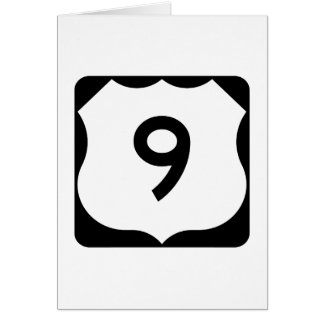 US Route 9 Sign Card