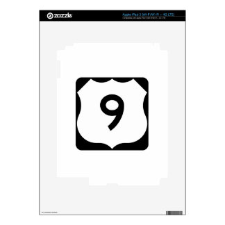 US Route 9 Sign Skin For iPad 3