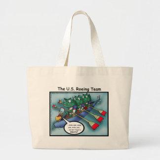 US Rowing (Roe-ing Team Funny Tees Cards Mugs Etc Large Tote Bag