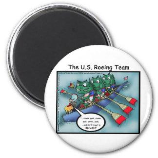 US Rowing (Roe-ing Team Funny Tees Cards Mugs Etc Magnet