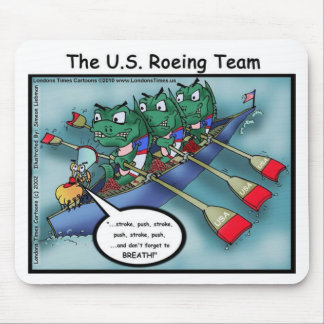 US Rowing (Roe-ing Team Funny Tees Cards Mugs Etc Mouse Pad