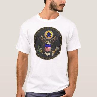 US Seal on Black T-Shirt