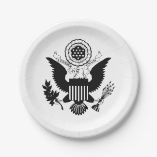 US Seal Paper Plate