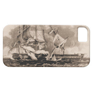 US ship Constitution in action iPhone SE/5/5s Case