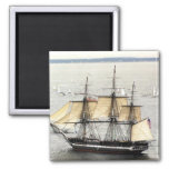 US Ship Constitution, Parade of Sail 2 Inch Square Magnet