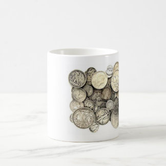 US Silver Coins Coffee Mug