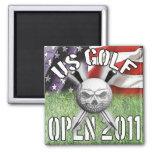 us skull golf open fridge magnets