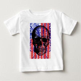 US Skull in a digital circuit Baby T-Shirt