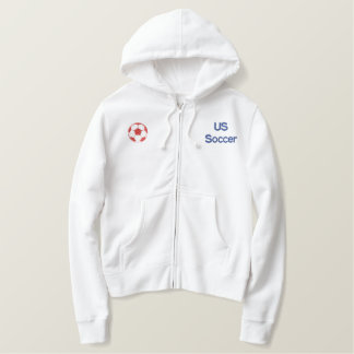 US Soccer 2010 Embroidered Zip through hoodie