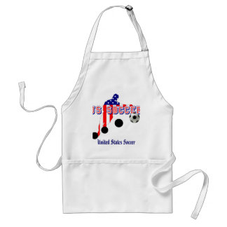 US Soccer Player Bend it like an American Adult Apron