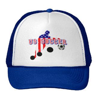 US Soccer Player Bend it like an American Trucker Hat