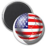 US Soccer team fans stars and stripes flag ball Refrigerator Magnet