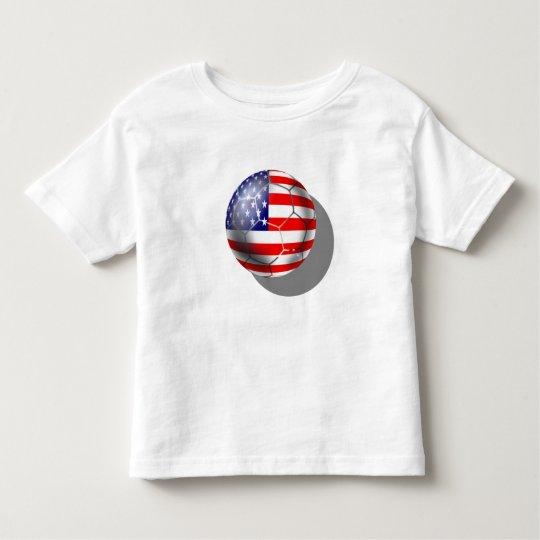 US Soccer team fans stars and stripes flag ball Toddler T-shirt