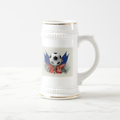 US soccer vintage retro artwork gear Coffee Mugs