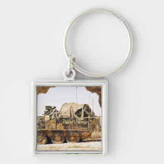 US Soldiers conduct a combat patrol in Afghanis Keychain