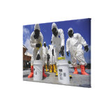 US Soldiers from the 457th Chemical Battalion Canvas Prints