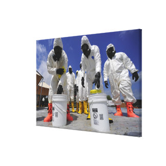 US Soldiers from the 457th Chemical Battalion Canvas Print