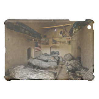 US Soldiers sleep in an abandoned mud house iPad Mini Cover