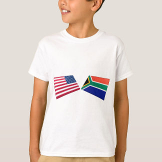 US & South Africa Flags T-Shirt