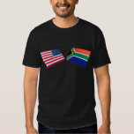 US & South Africa Flags Tee Shirt
