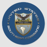 US Southern Command Round Stickers