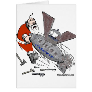 US Special Ops Steampunked Santa Card