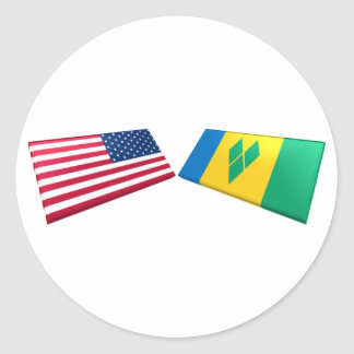 US St Vincent and the Grenadines Flags Sticker